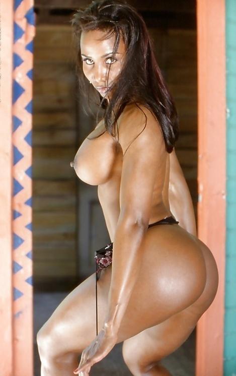 Ebony ass in thong