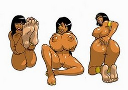 latin and ebony chicks